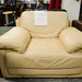 Cream leather arm-chair E80