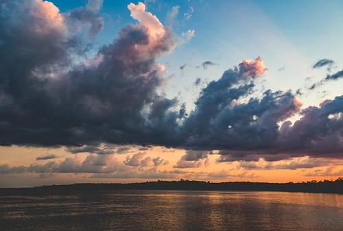 carlos carlostownship lakecarlos lakecarlosstatepark minnesota clouds lake statepark sunset unitedstates us