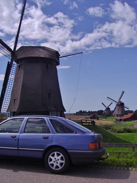 Ford Sierra 2.0 EFi Ghia, Molendijk, Schermerhorn, Nederland