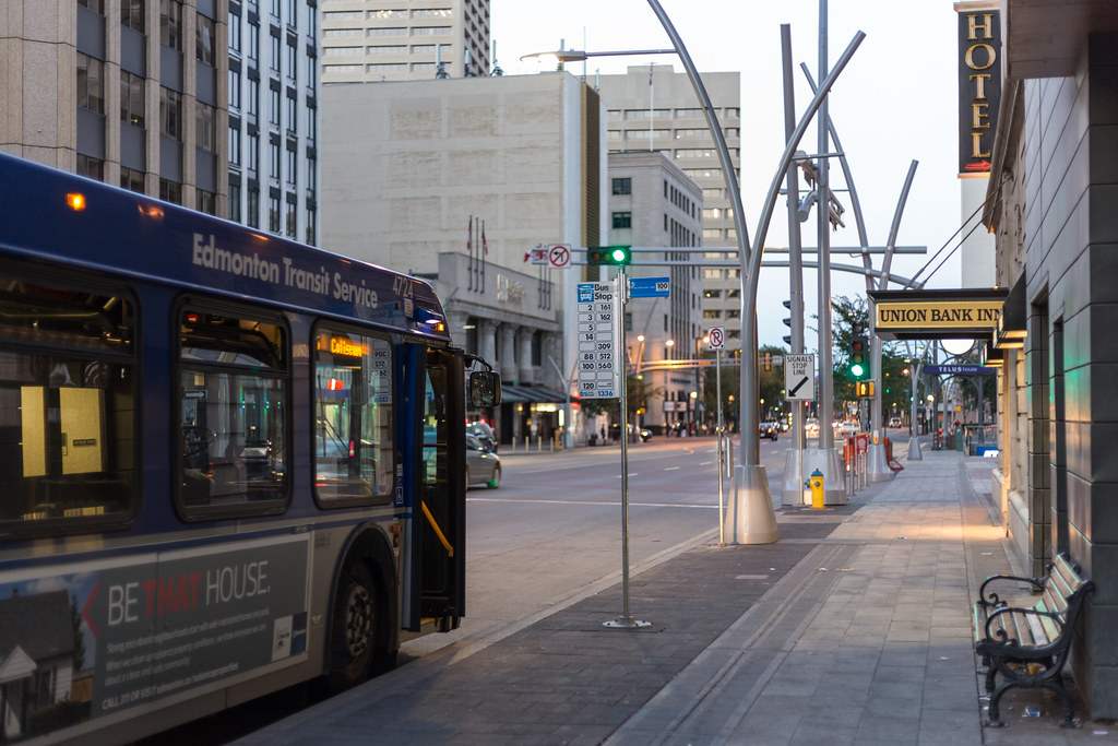 Route 5 on Jasper Avenue