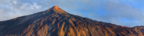 teide spain tenerife panorama landscape sunset mountain volcano island clouds