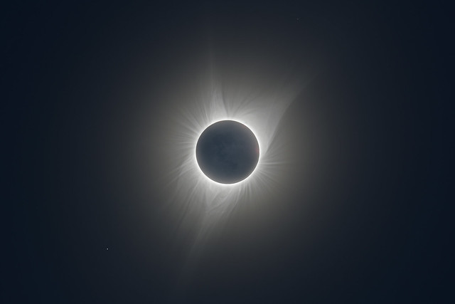 Earthshine During the Total Solar Eclipse in August 2017
