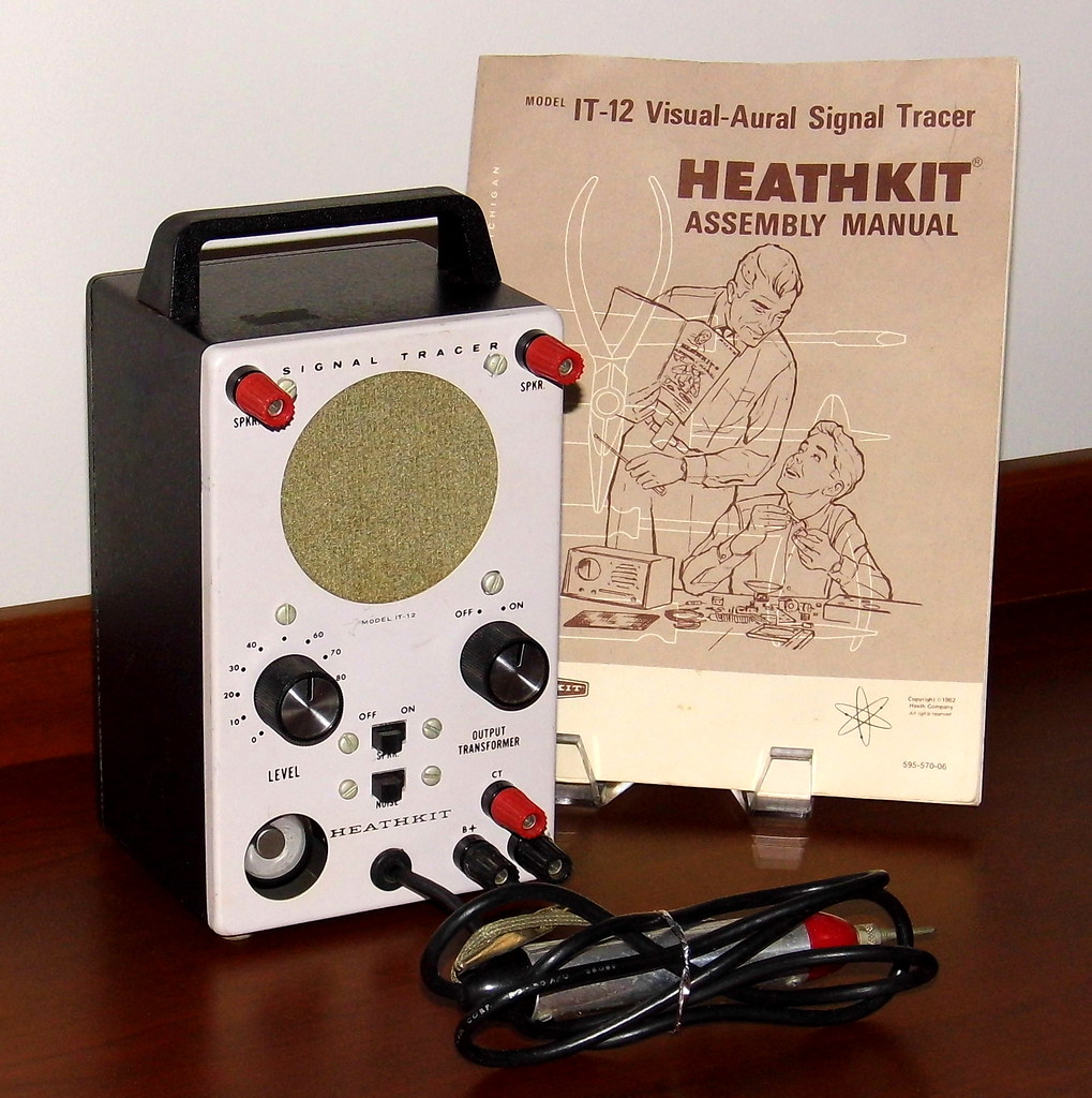 Vintage Heathkit Visual-Aural Signal Tracer, Model IT-12, … | Flickr
