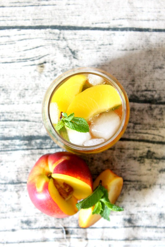 Preserved peach & peach tea