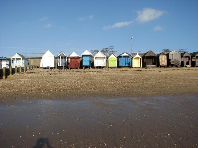 Beach huts at Thorpe Bay