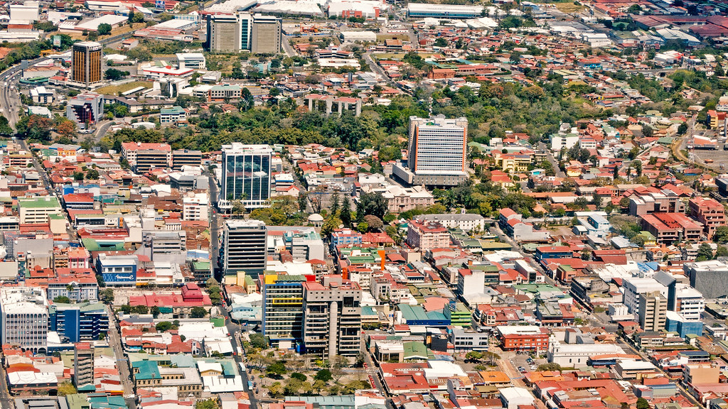 downtown | Partial view of Downtown San Jose, Costa Rica. | Bernal ...
