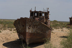 Moynaq - boats left literally high and dry.