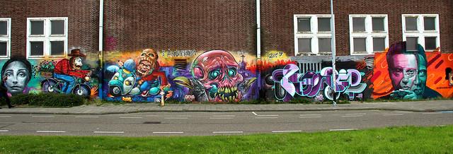 graffiti streetart in amsterdam
