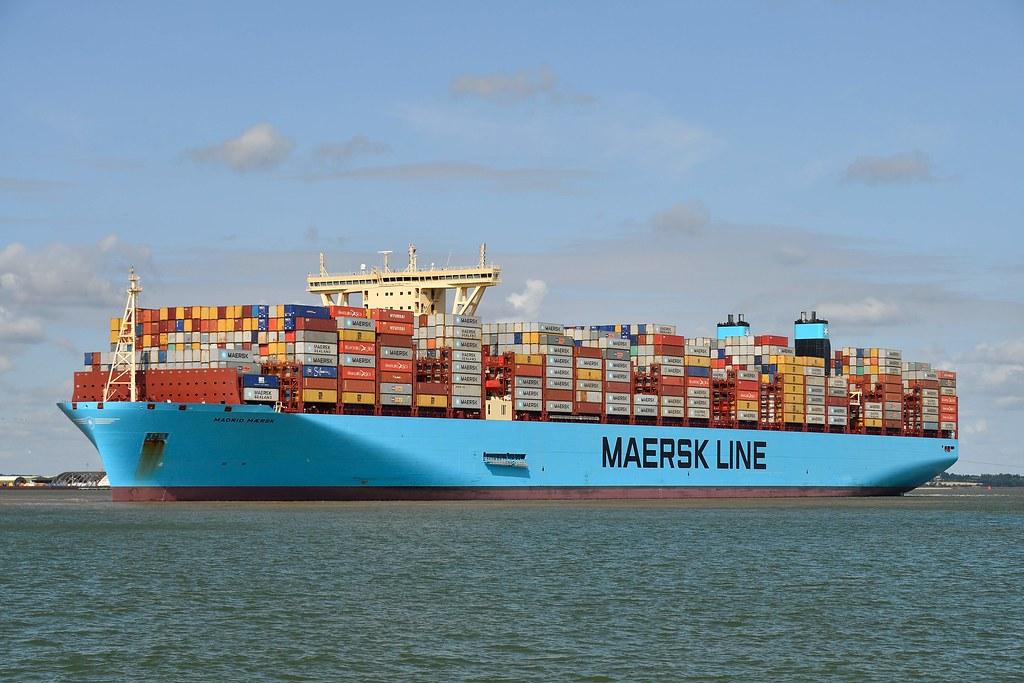 Madrid Maersk | Maersk Super Triple-E arriving at Felixstowe