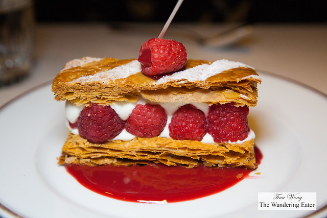 Birthday Millefeuille aux framboises