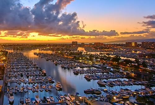 sailboat clouds ocean pacific sun sunset california losangeles marinadelrey