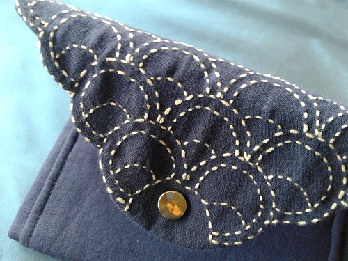 wallet Sashiko detail