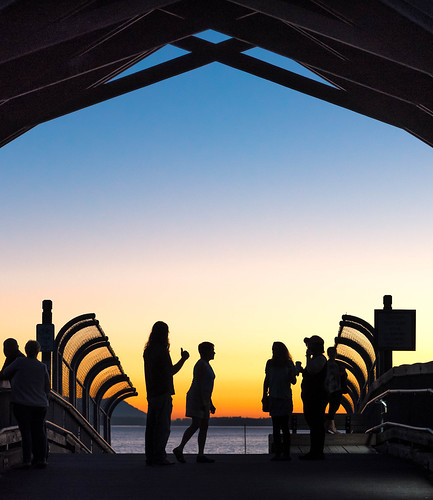 bellinghambay marine sunset silhouettes people southbaytrail boulevardpark bellingham washington nikon d750