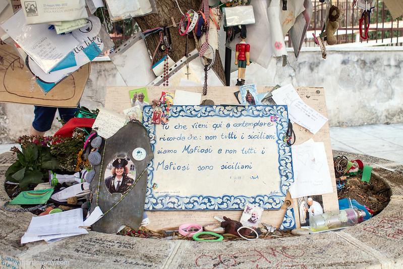 Albero della Pace in memoria della strage di via d'Amelio