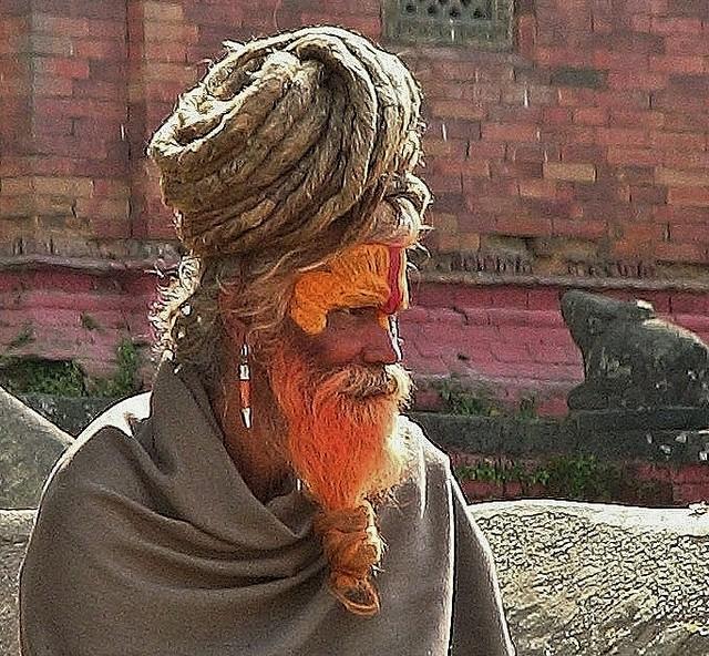 NEPAL, Pashupatinath,Hindutempel und Verbrennungsstätte, Sadhu (serie),  16374/8687