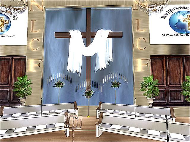 Water Edge Town - New Life Christian Fellowship - Draped Cross