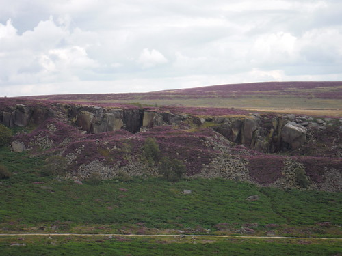 Burbage Rocks from near Carl Wark SWC Walk 266 - Sheffield to Bamford (via Burbage Rocks and Stanage Edge) or to Moscar Lodge [via Carl Wark and Higger Tor Alternative]