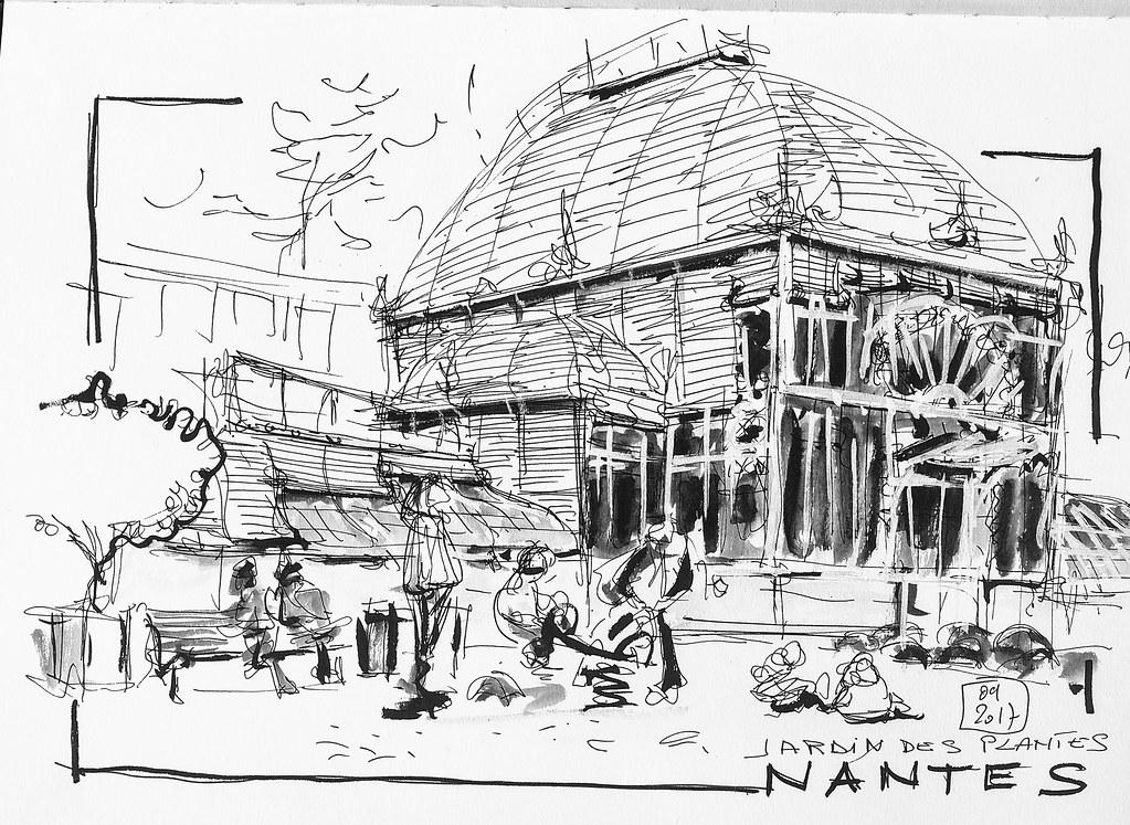 Le grande serre du Jardin des plantes - NANTES   Serge ...
