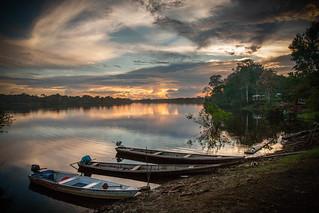 Amazon river village sunset | by canorus