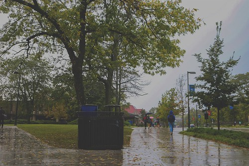 Explore KU in the rain