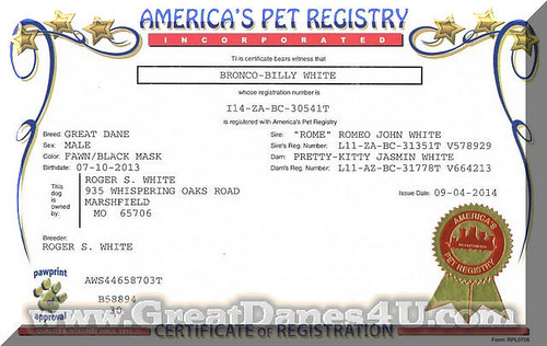 APRI registration certificate   by RBElwell