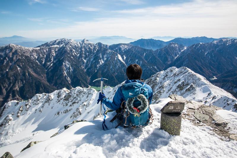 立山の雄山 11月の雪山登山