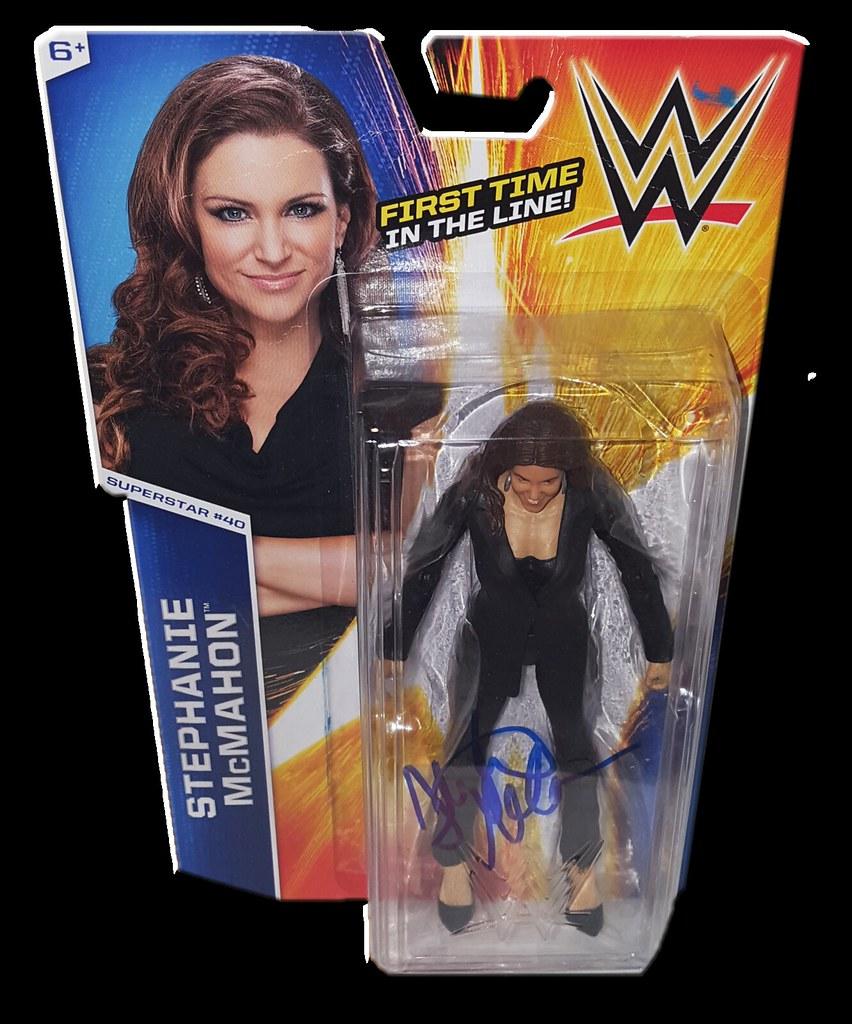 Stephanie McMahon Autographed WWE Basic Mattel Series 51 Figure