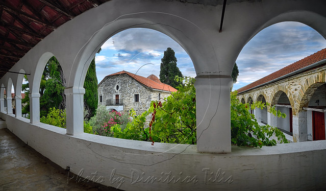 Ιερά Μονή Ευαγγελιστρίας Παλαιό Τρίκερι Holy Monastery of Annunciation Island (Ancient) Trikeri panorama
