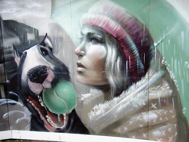 🐝🐝Manchester street art - back of Victoria Railway Station.🐝🐝