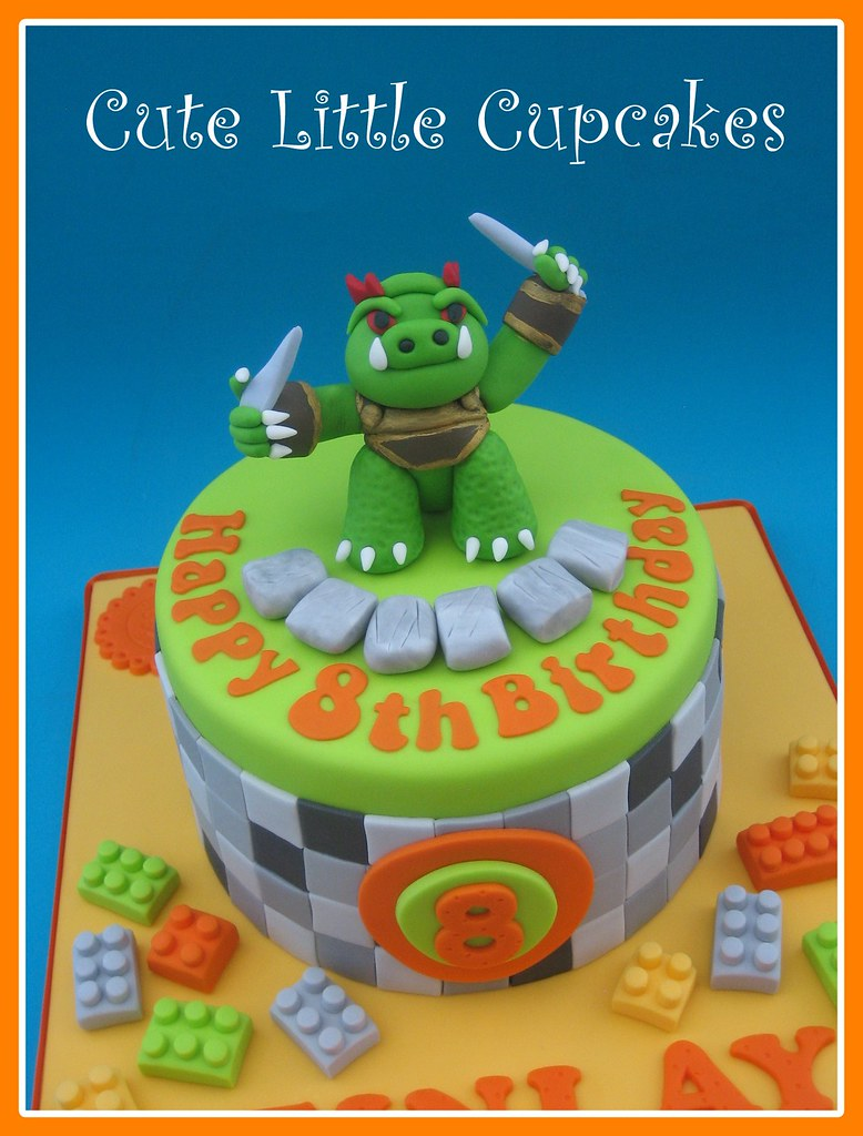 Brilliant Lego Minecraft Skylander Mash Up Cake Heidi Stone Flickr Funny Birthday Cards Online Inifodamsfinfo