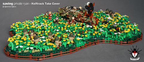 LEGO Saving Private Ryan - Halftrack Take Cover | by Barthezz Brick