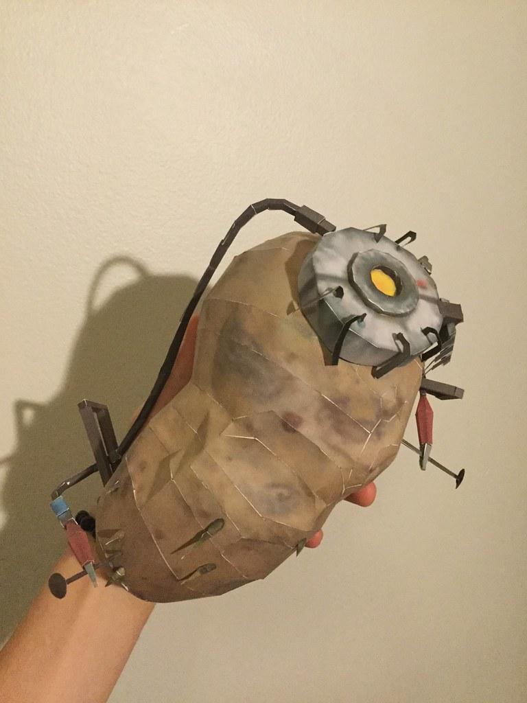Portal 2 Glados Potato Papercraft Justin O Flickr