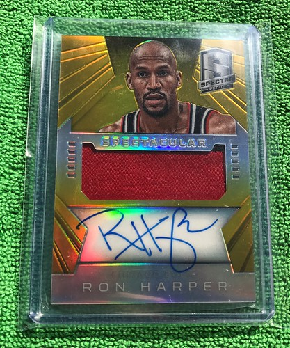 2014-15 Panini Spectra Spectacular Swatches Gold Prizm #SS-RH 6/10 | by HarperCollector9