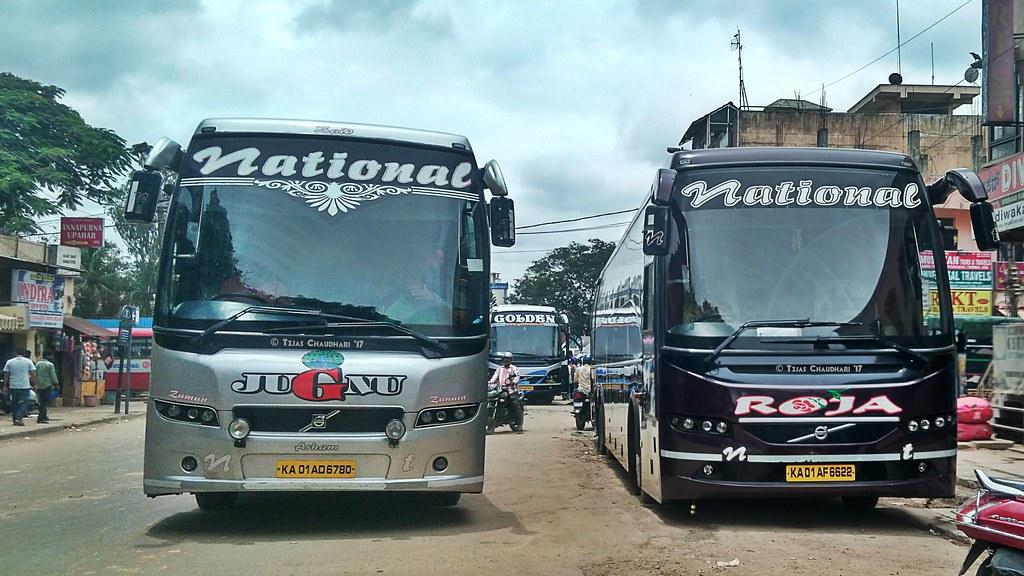 National Travels Jugnu Roja Volvo Bus Tejas Chaudhari