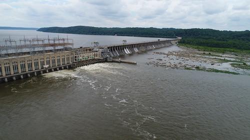 Aerial photo of Conowingo Dam