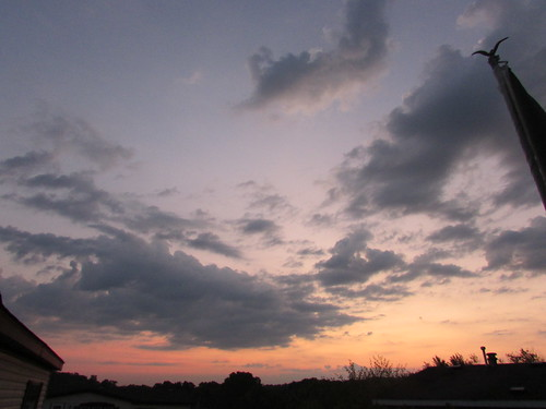 sunrise dawn clouds sky belmont west michigan summer september