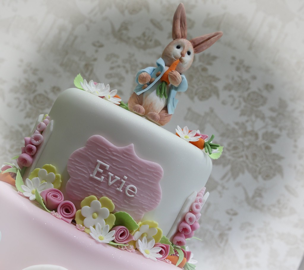 Pleasant Handcrafted Peter Rabbit Tops This Birthday Cake Anita Barrett Funny Birthday Cards Online Alyptdamsfinfo