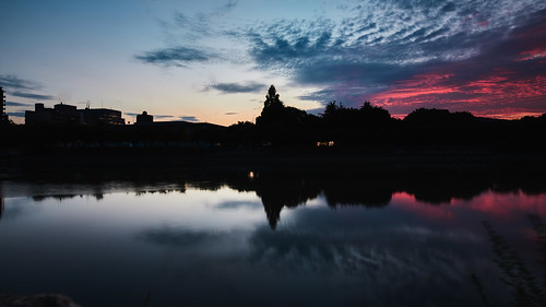 eos5dmarkⅳ tse17mmf4l sunset river hiroshima
