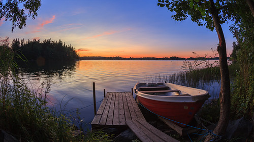 15mm pitkäjärvi fisheye laaksolahti hdr syksy vene serene järvi auringonlasku aurinko autumn boat fall lake prime sun sundown sunset espoo