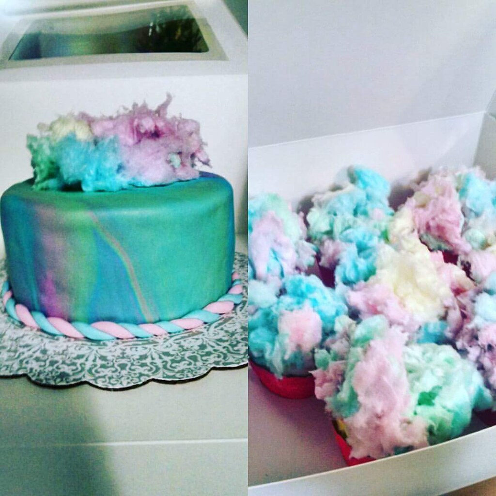 Incredible Cotton Candy Birthday Cake A Photo On Flickriver Funny Birthday Cards Online Hendilapandamsfinfo