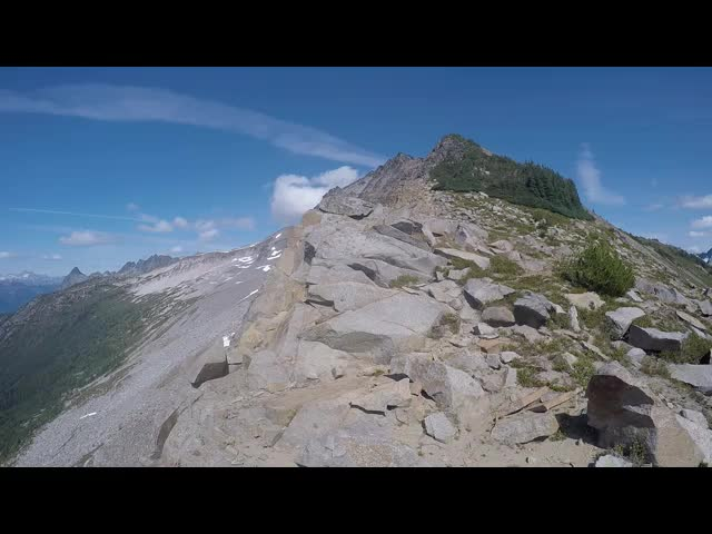 3715 GoPro video 360 degree panorama from the southwest ridge of Cloudy Peak