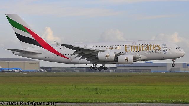 A6-EDX - Emirates - Airbus A380-861 - AMS/EHAM