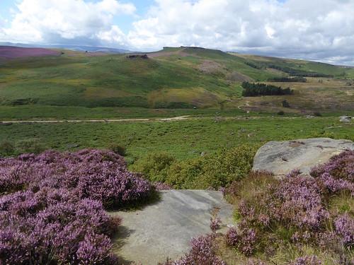 View across the valley, Burbage Rocks Sheffield to Bamford walk