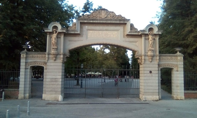 Entry gate in Maksimir, Zagreb, Croatia