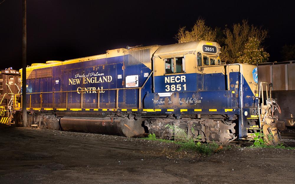 New England Central NECR 3851 (GP38-2) Palmer, MA.
