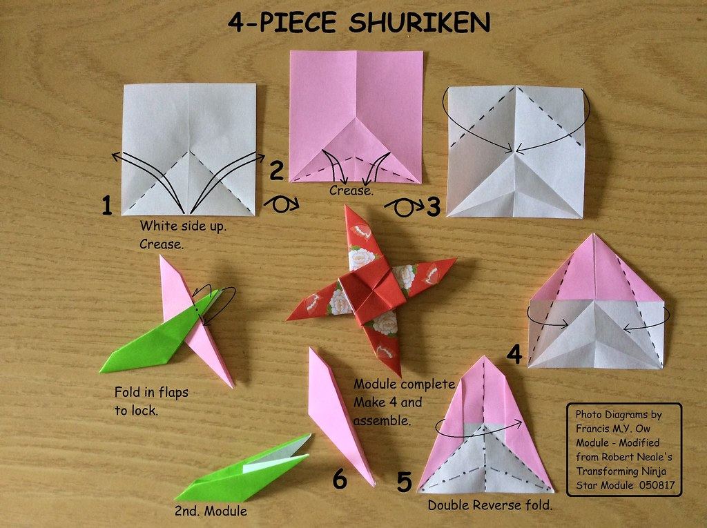 How to Make a Paper Shuriken : 13 Steps - Instructables | 765x1024