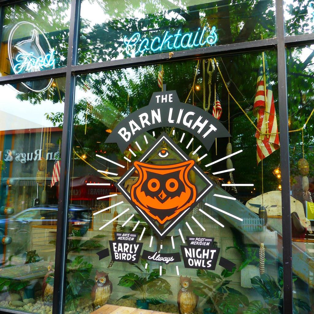 The Barn Light Window Sign   The Barn Light Café and Bar ...