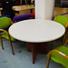 White circular meeting table  E120