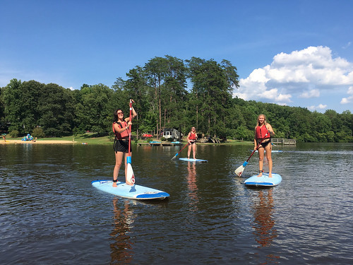 Stand up paddle board sup at bear creek lake state park | by vastateparksstaff