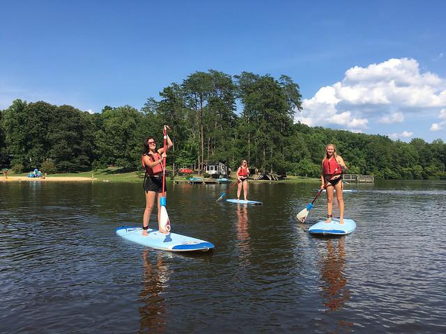 Stand up paddle board sup at bear creek lake state park